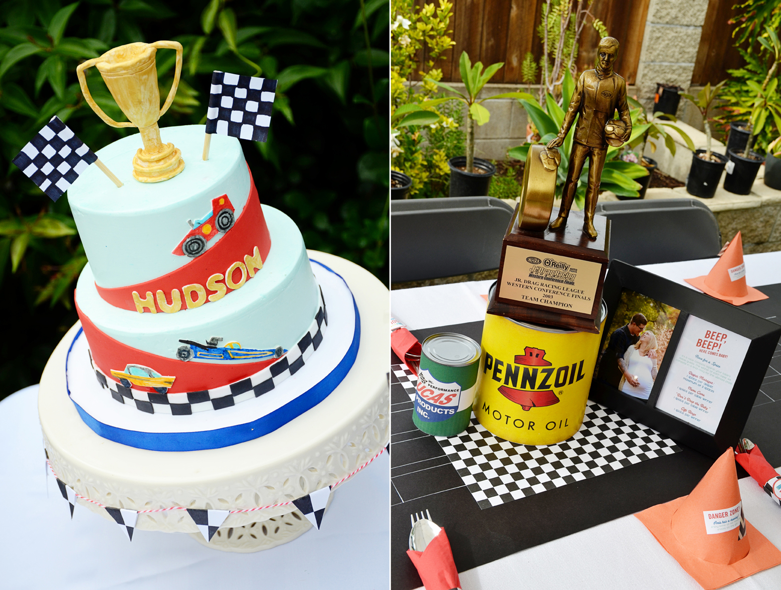 Vintage Cars And Drag Racing Themed Baby Shower And Party Sam Allen Creates