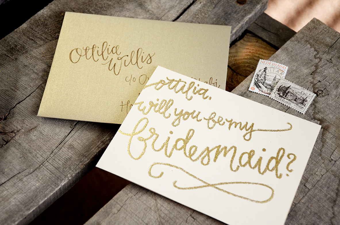 bridesmaid bridal party invitations by your new friend sam cream