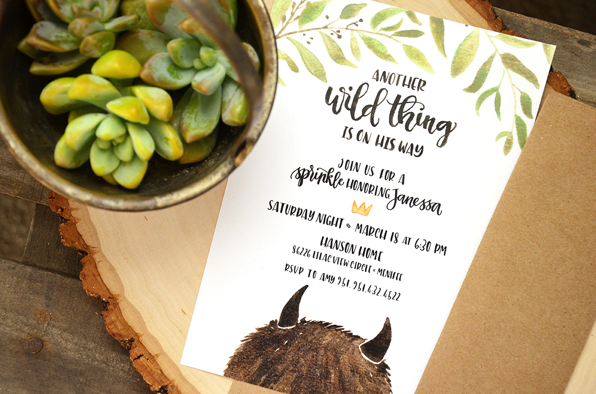Sam Allen Creates Where The Wild Things Are Baby Shower Invitation